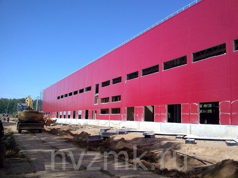 монтаж основных элементов фасада здания