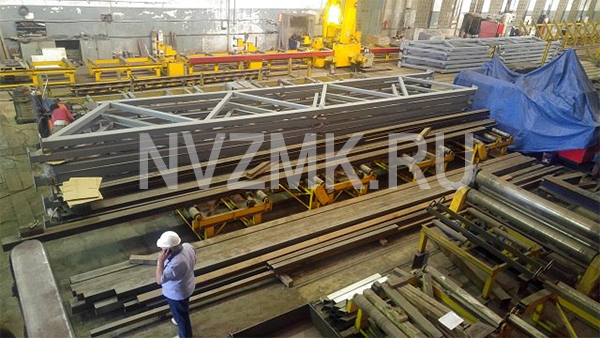 Произведено изготовление металлических ферм для нужд застройщика Республика Башкортостан