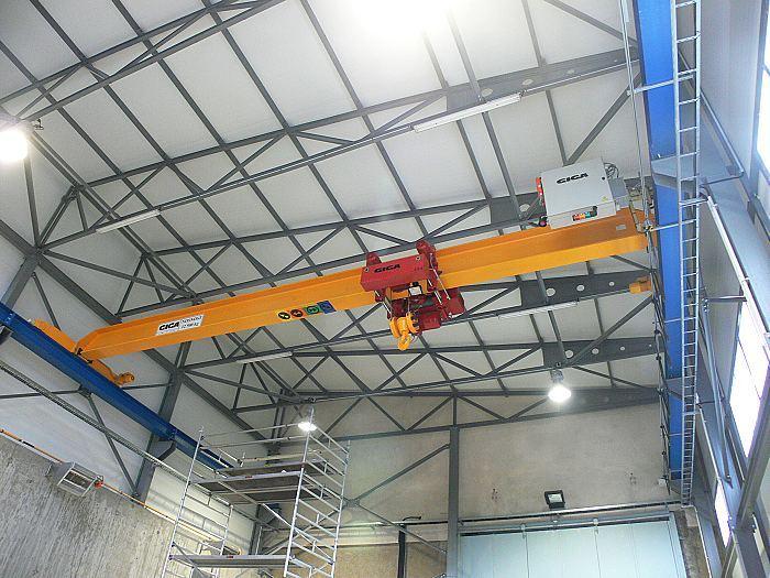 Окончено производство эстакады мостового крана для производственно-складского корпуса
