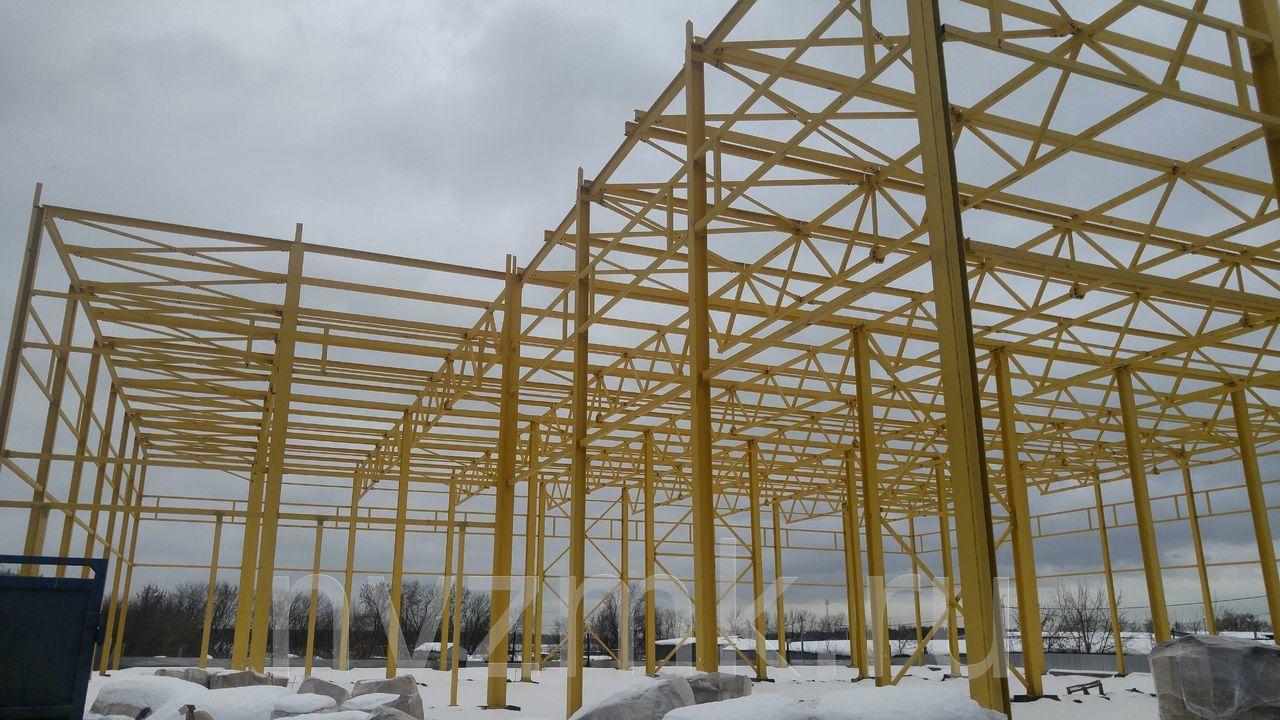 Выполнено изготовление и строительство здания мусоропереработки из стальных строительных конструкции в Брянской области