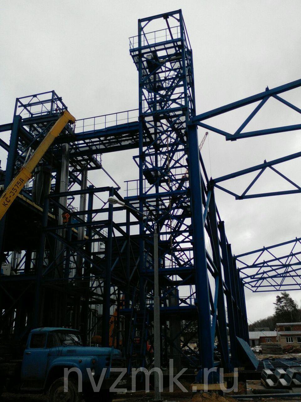 Производство стальных конструкций цеха обработки сельскохозяйственной продукции