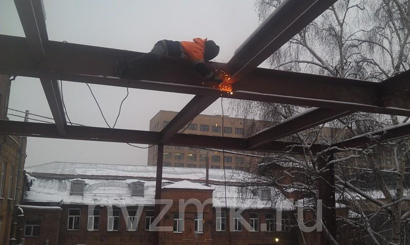 Производство стальных конструкций административно-офисного 2-х этажного здания
