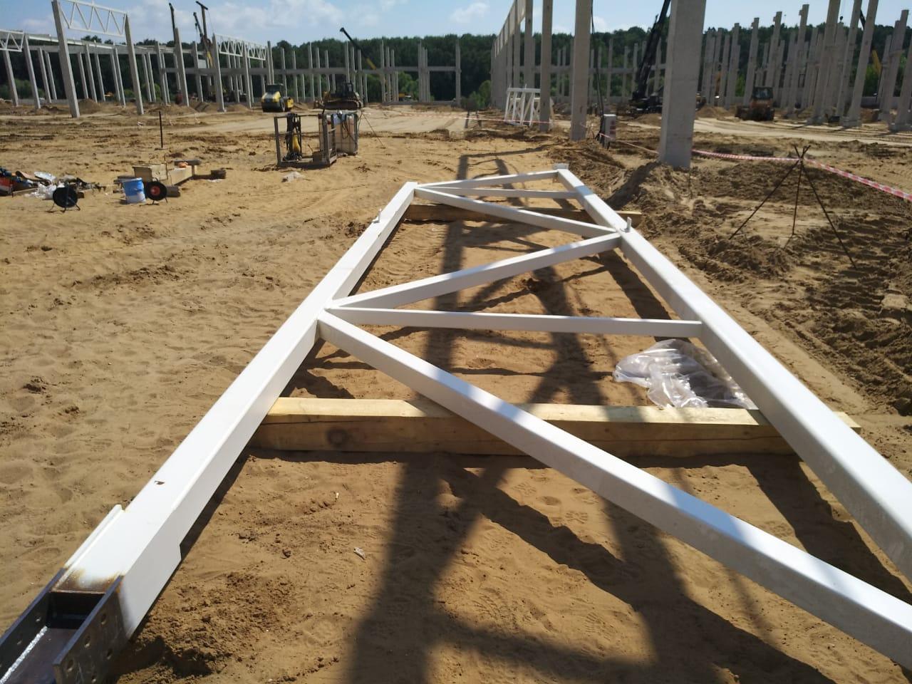 Поставки металлоконструкций для строительства торгового центра в Астрахани