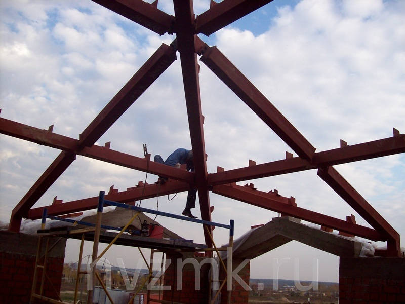 Строительство загородных дач из металлокаркаса