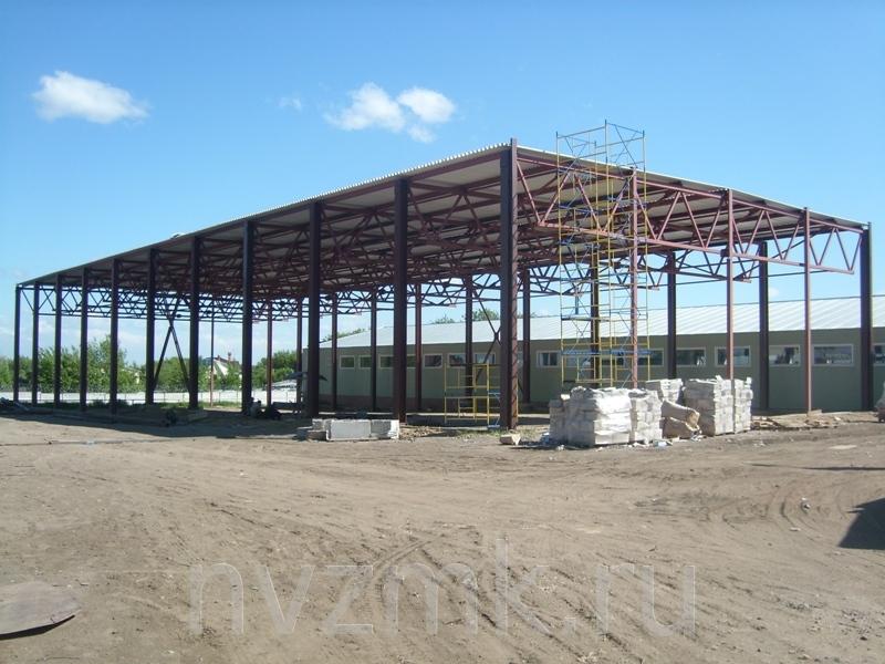 компания Новинский завод металлоконструкций выполнила монтаж холодного склада