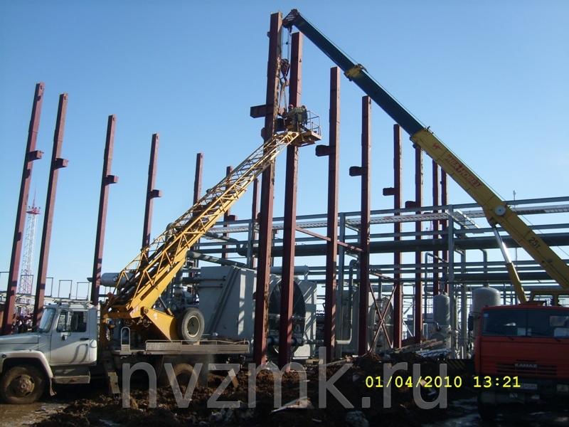 монтажные работы при строительстве металлоконструкций